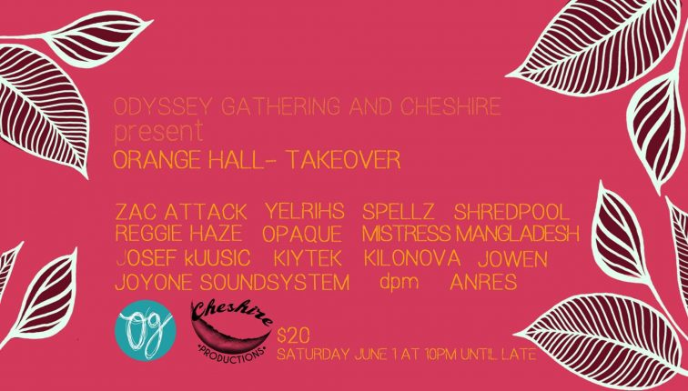 orange hall takeover poster odyssey